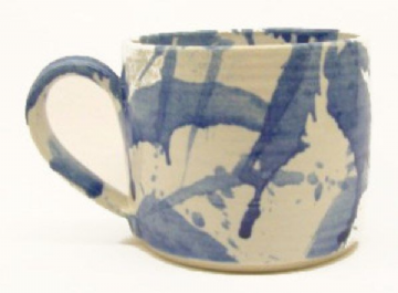 Duncan Browning: Mwg Sblash Las Bach | Small Blue Splash Mug